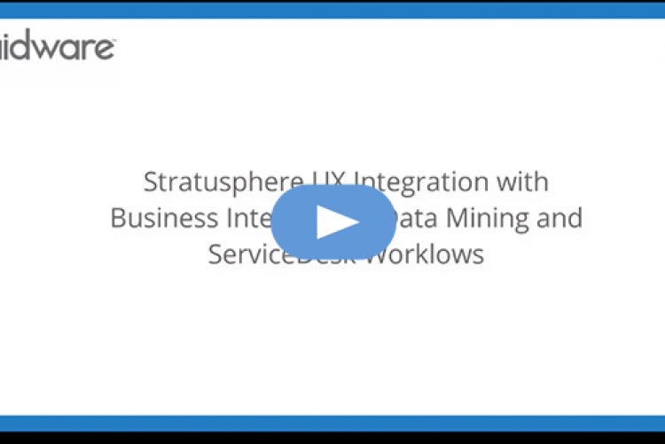 Stratusphere UX integration with BI, Data Mining and ServiceDesk Workflows