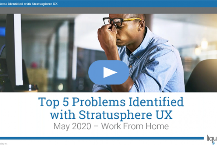 Top 5 Problems Identified with Stratusphere UX