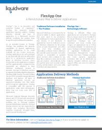 FlexAppOne Solution Brief