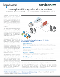 Stratusphere UX Integration with ServiceNow