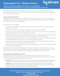 Stratusphere UX Best Monitoring Solution for VMware Horizon